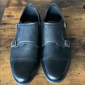 Men's Leather Aldo Double Monk Strap Dress Shoes